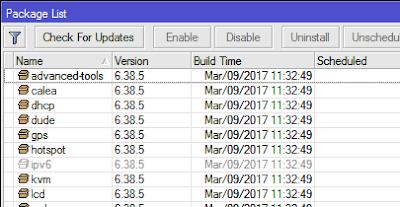 Managemen paket paket pada MikroTik RouterOS