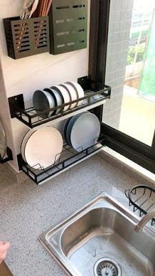 Escorredores de louça na decoração da cozinha