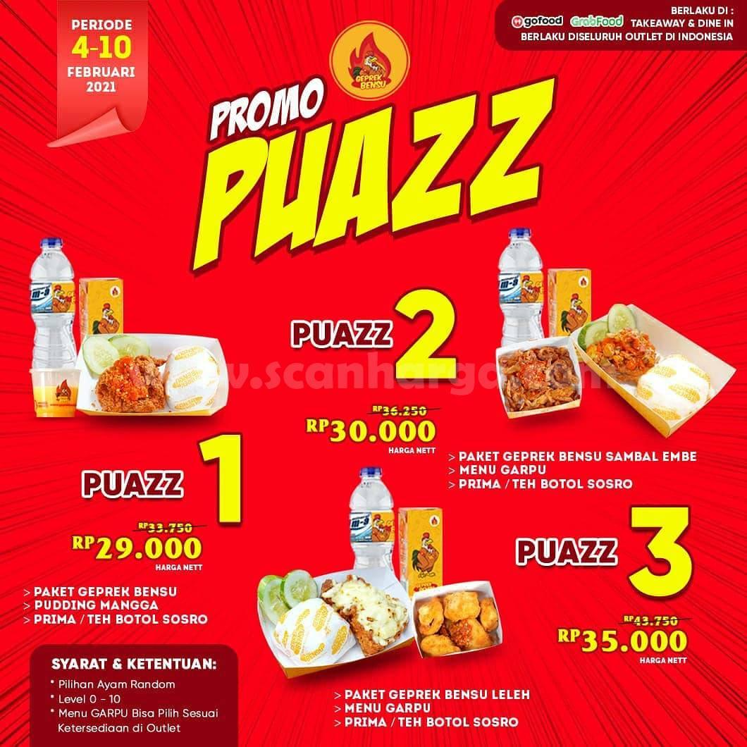 GEPREK BENSU Promo PUAZZ! Harga mulai Rp 29.000 per paket