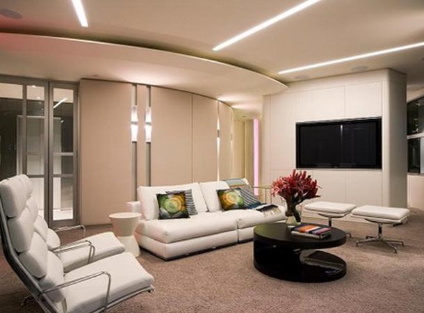 Iluminaci N Para Salas Colores En Casa
