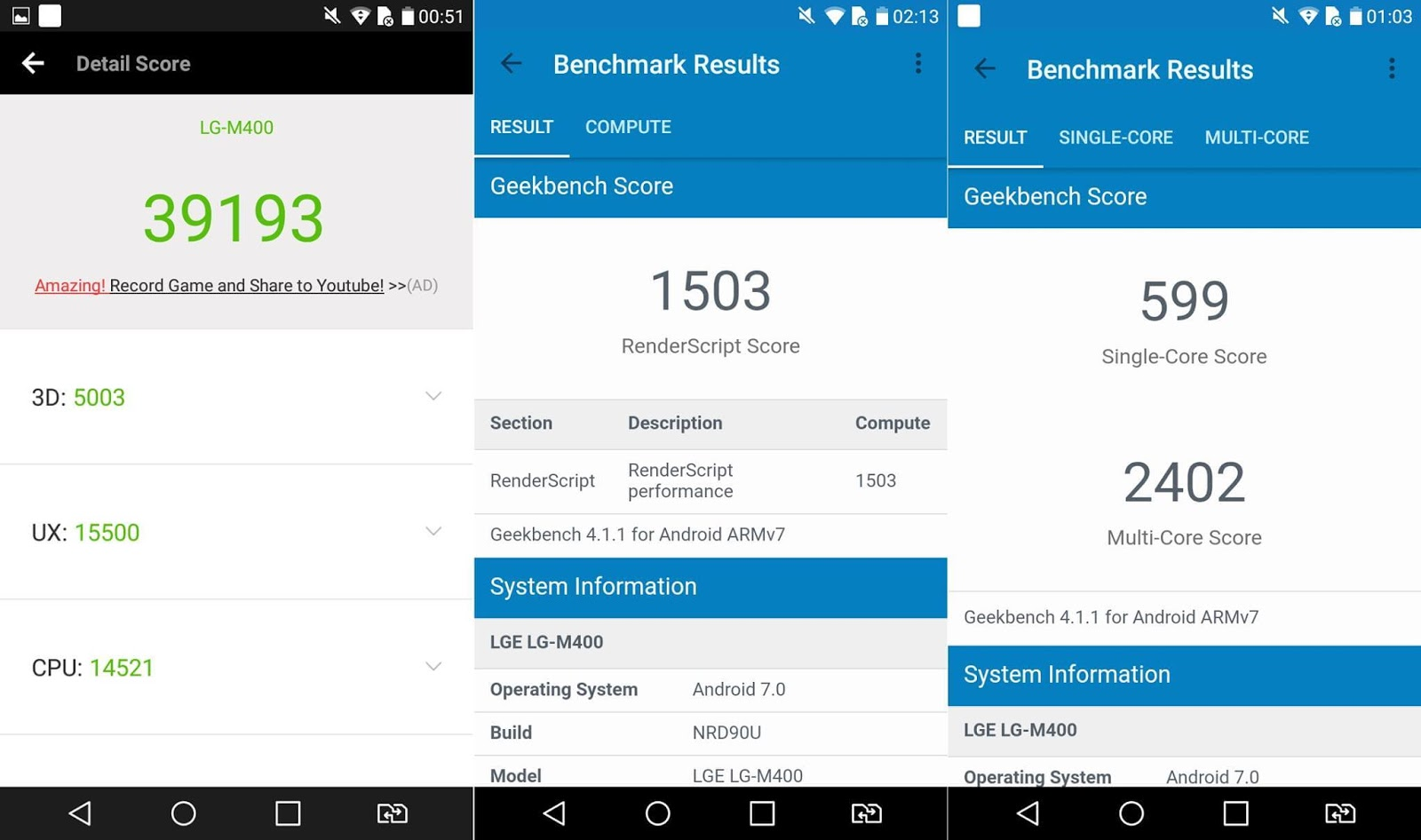 LG Stylus 3 Review - Benchmark Results