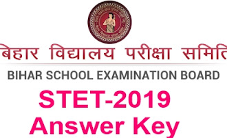 ᵘᴷʳ STET 2019 Answer Key 207 Computer  Science Paper-2 Section A GK & Section B Computer Science