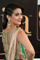 Manjusha in Beautiful Sleeveless Green Anarkali dress at IIFA Utsavam Awards 41.JPG