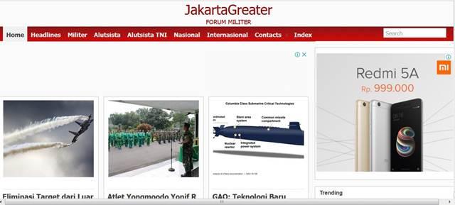 Jakarta Greater : Informasi dan Berita Tentang Dunia Militer dan Pertahanan