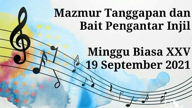 Mazmur Tanggapan Minggu 19 September 2021