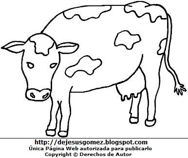 Dibujo de vaca para niños para colorear. Imagen de vaca de Jesus Gómez