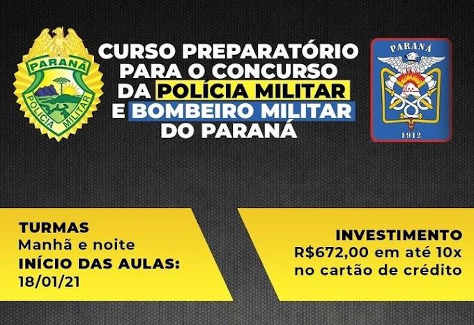 Curso preparatório para concurso da PMPR presencial em São José dos Pinhais