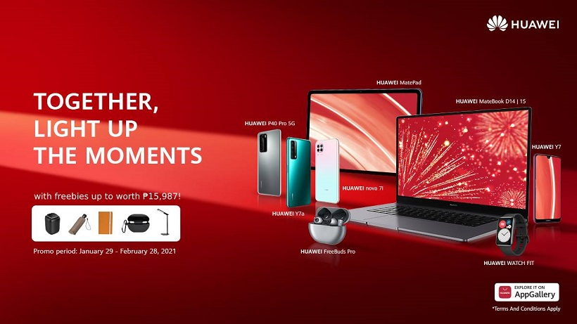 "Huawei announces ""Light Up the Moments"" Promo: Enjoy discounts, deals on best-selling gadgets"