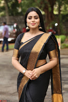 Poorna in Cute Backless Choli Saree Stunning Beauty at Avantika Movie platinum Disc Function ~  Exclusive 089.JPG