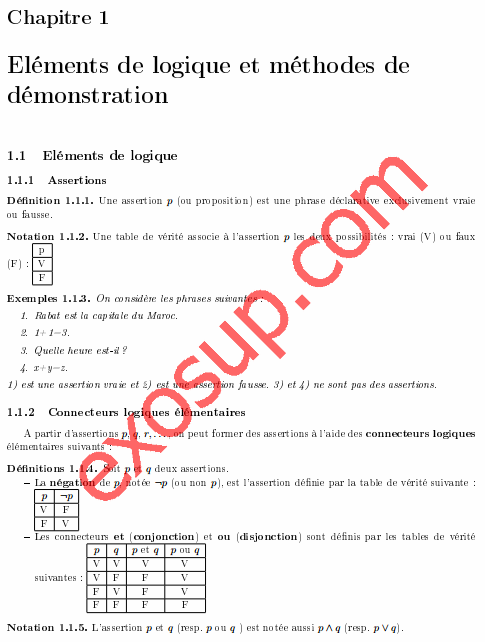 cours dalgbre 1 smia s1 fsr 201516 - Resume Cours Science Bac Tunisie