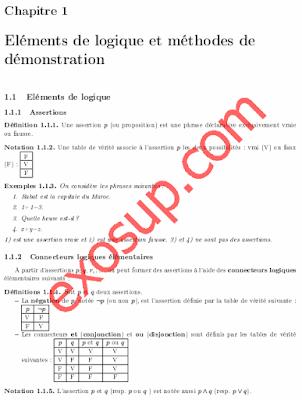 cours d'algèbre 1 smia s1 fsr