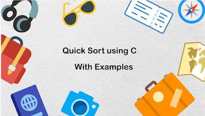 Quick Sort using C