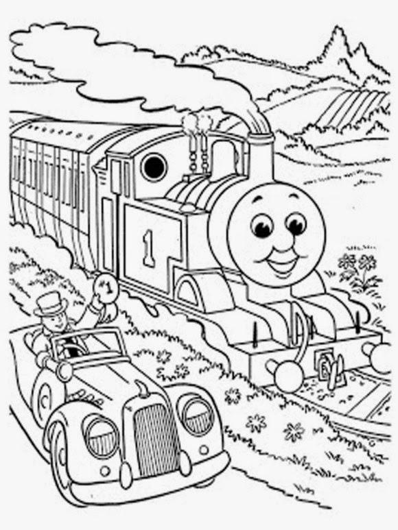 Mewarnai gambar Thomas untuk anak 9
