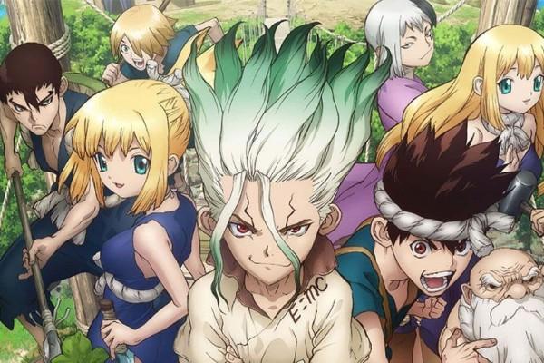 Ilustrasi Anime Dr. Stone