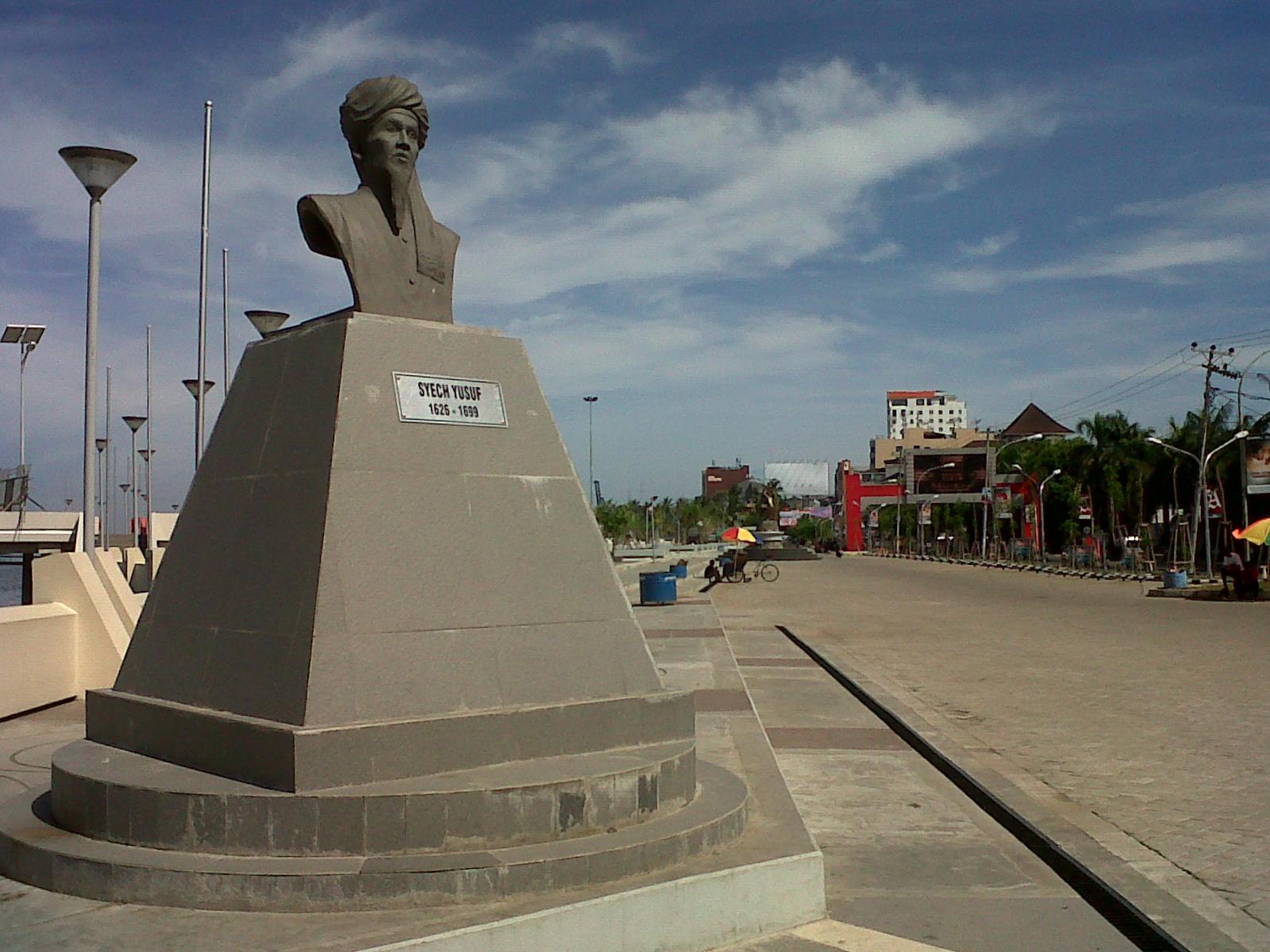 Pantai losari dan sejarah Tuanta Salamaka - Syekh Yusuf Al-Makassari