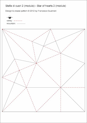 origami CP Stella di cuori 2 - Star of hearts 2 by Francesco Guarnieri