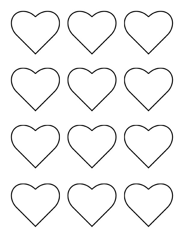The iced queen royal icing chain of hearts for Small heart template to print