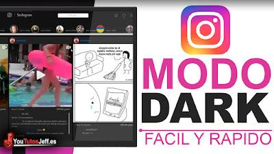 activar modo dark en instagram