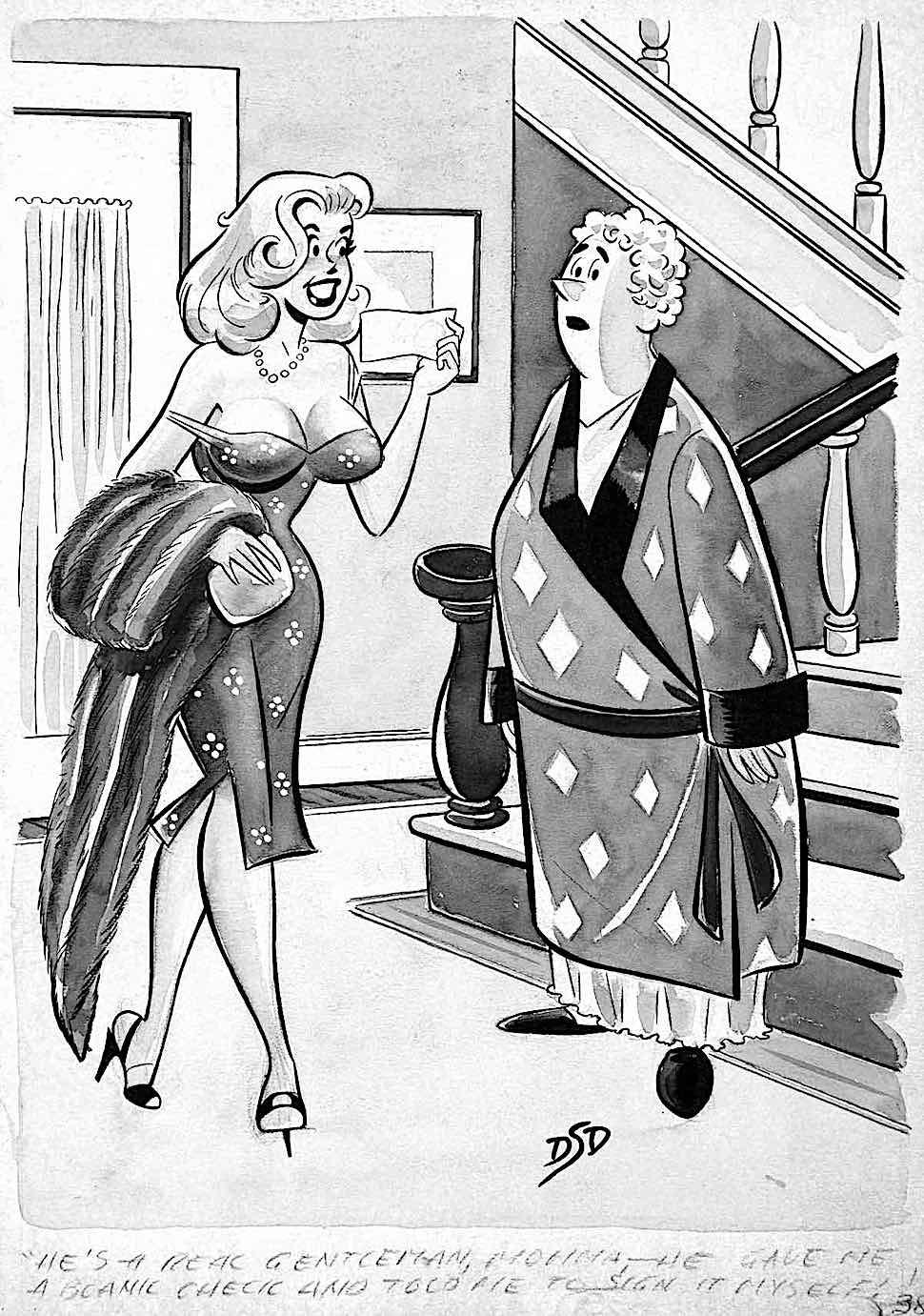 a Dan Decarlo men's magazine cartoon