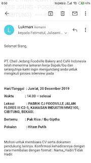 Lowongan Kerja SMA/SMK PT Cheil Jedang Indonesia Jakarta 2020