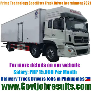 Prime Technology Specialists Inc Delivery Truck Driver Recruitment 2021-22