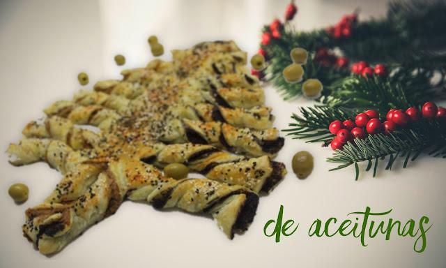 Arbolito de navidad relleno de pate de aceitunas - Entrate