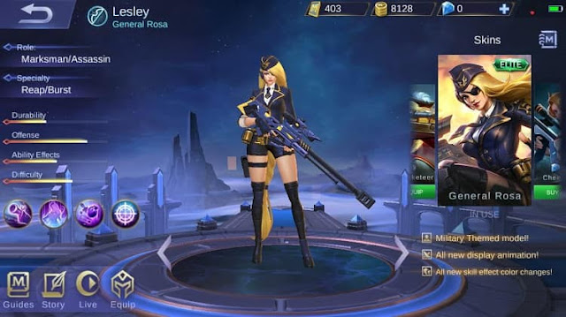 Skin Lesley Di Mobile Legends (ML) Terbaik