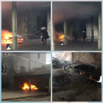 Moradores de rua têm colchões queimados no viaduto da igreja no São Francisco em Sobral