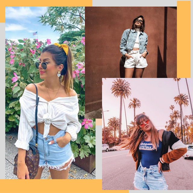 Looks com shorts blogueira famosa