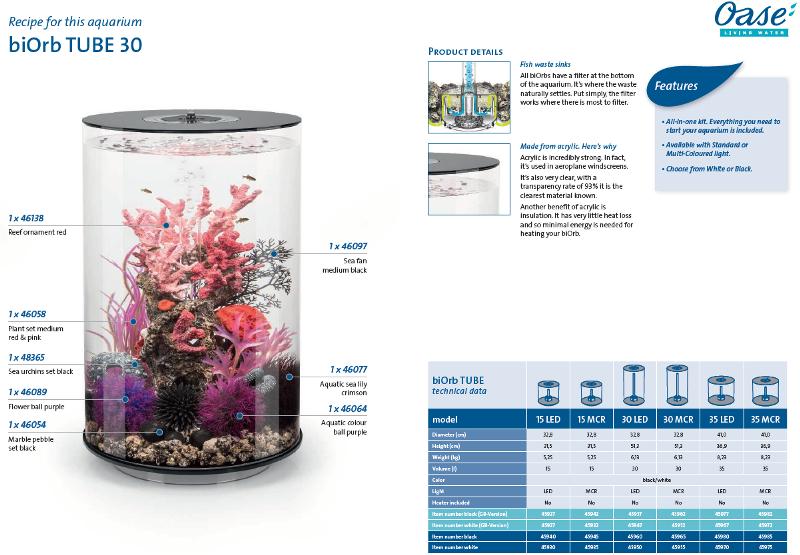 oase biorb tube 30 fish tank review