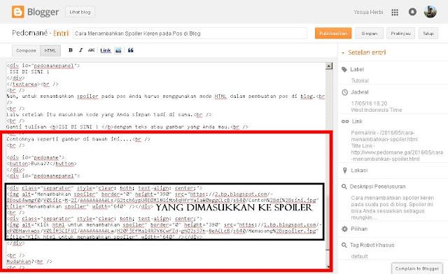 Cara menambahkan spoiler di blog