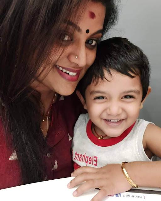 Veena Nair with her son Dhanwin