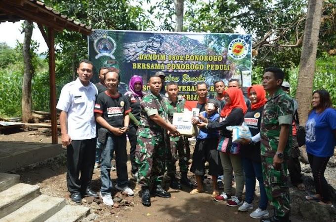Rumah Mbah Sarijah Tidak Layak Huni,  Kodim 0802/Probolinggo Renovasi