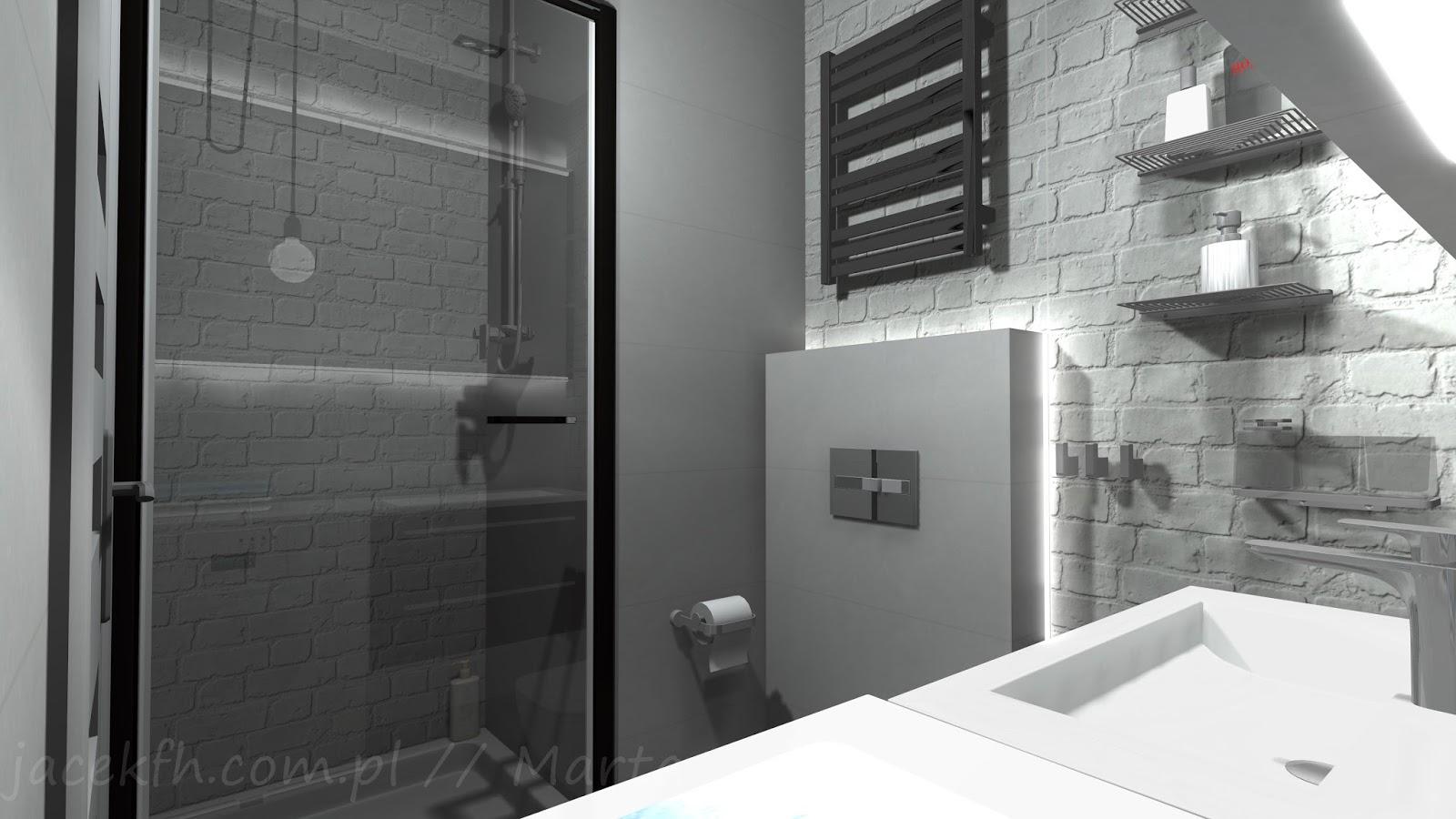 Projekty łazienek łazienka 29 M2