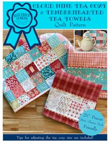 Cloud Nine Tea Cozy and<br>Tenderhearted Tea Towels Quilt Pattern (BRDQ-008)