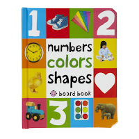 board book about science, numbers, colors and shapes for little kids and children