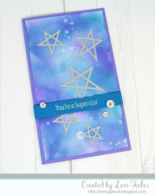 You're a Superstar card-designed by Lori Tecler/Inking Aloud-stamps and dies from My Favorite Things