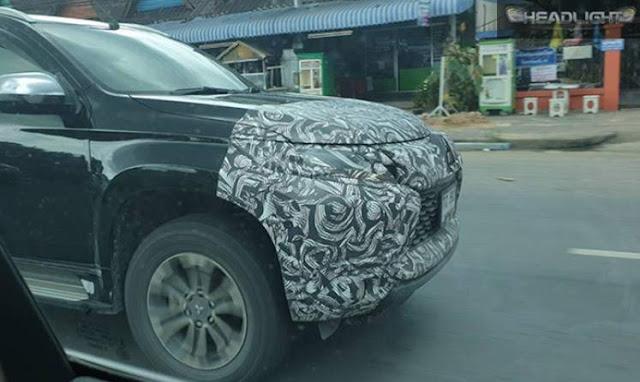Pajero Sport Facelift 2019 Terciduk uji jalanan Thailand
