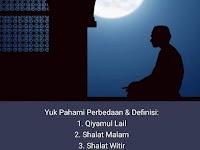 Perbedaan Qiyamul Lail, Sholat Malam, Sholat Tarawih dan Sholat Witir