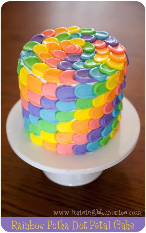 Pastel Rainbow Petal cake