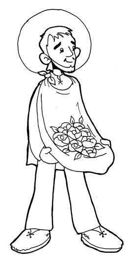 Dibujos para catequesis: SAN JUAN DIEGO