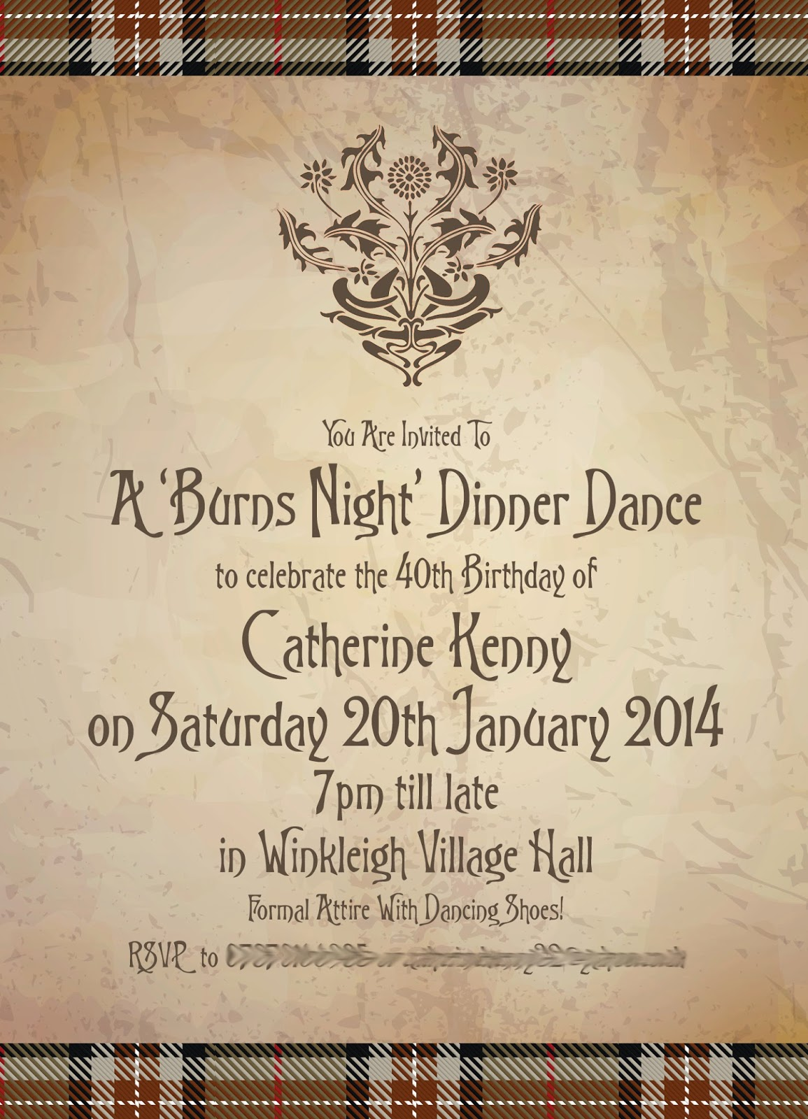 Knots and kisses wedding stationery a burns night for Burns supper menu template