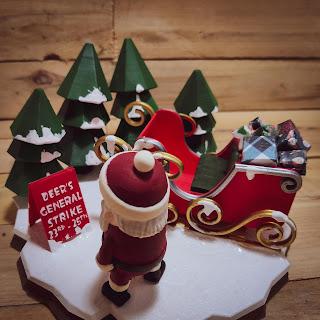 Santa Claus 3D printed diorama