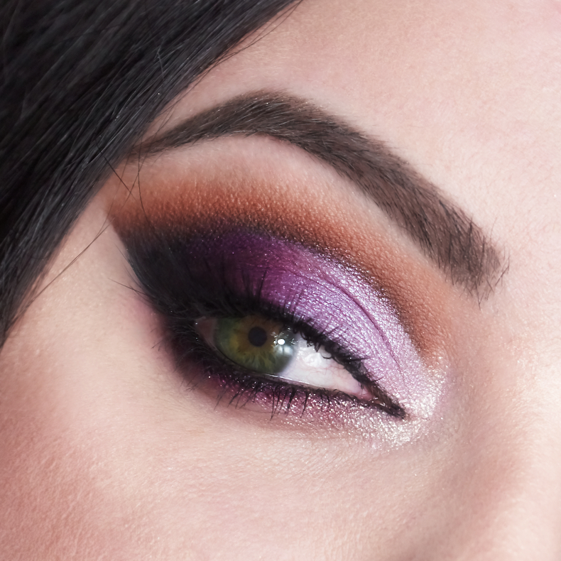 makijaż sylwestrowy  Fioletowo - Brązowe Cut Crease blog zdjęcia
