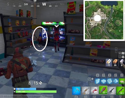 Fortnite, Battle Royale, Hungry Gnomes, Locations Guide, Football Stadium, Tilted Towers