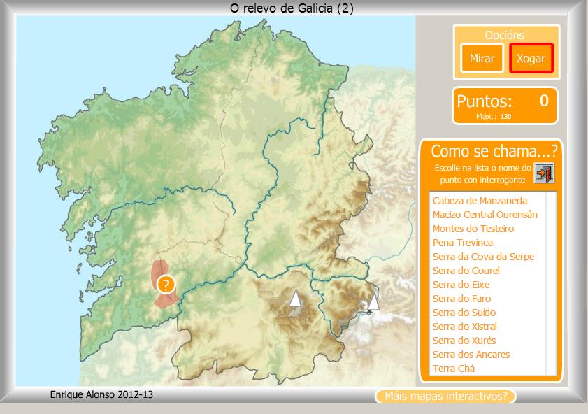 Relevo de Galicia -4º