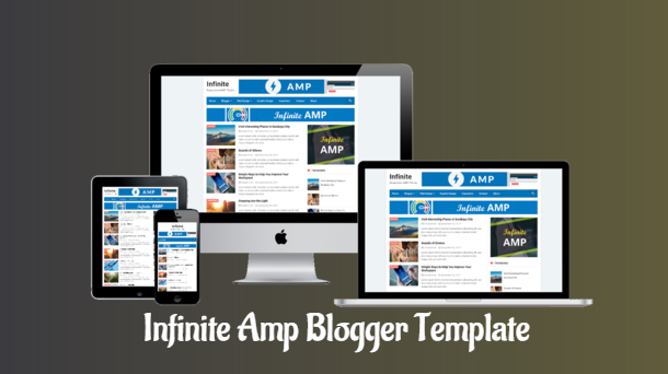 Infinite AMP Fast Loading Blogger Template Free - Responsive Blogger Template