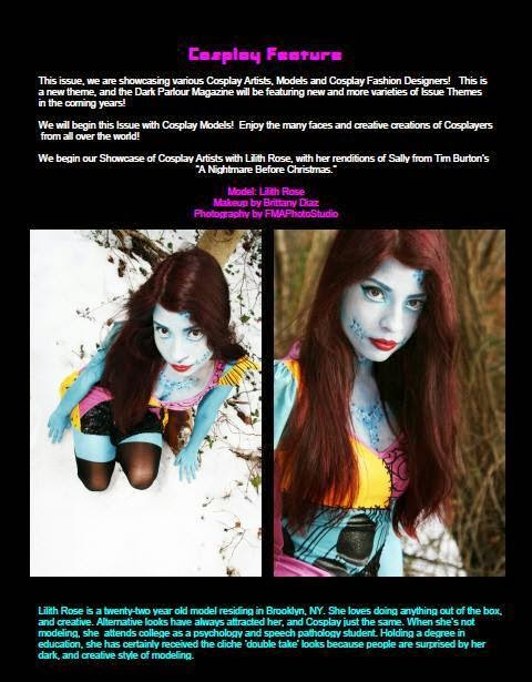 Published in Dark Parlour magazine's Cosplay Issue
