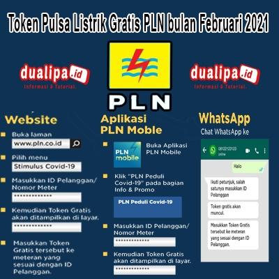 Token Pulsa Listrik Gratis PLN bulan Februari 2021