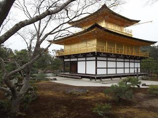 Golden Pavilion from a different angle, Kinkaku-ji Garden - Kyoto, Japan
